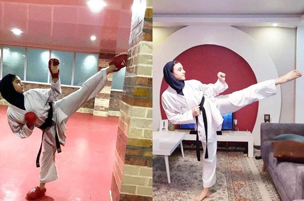 دختران  طلایی جزیره کیش و کسب مقام قهرمان کاراته مسابقات مجازی کشور