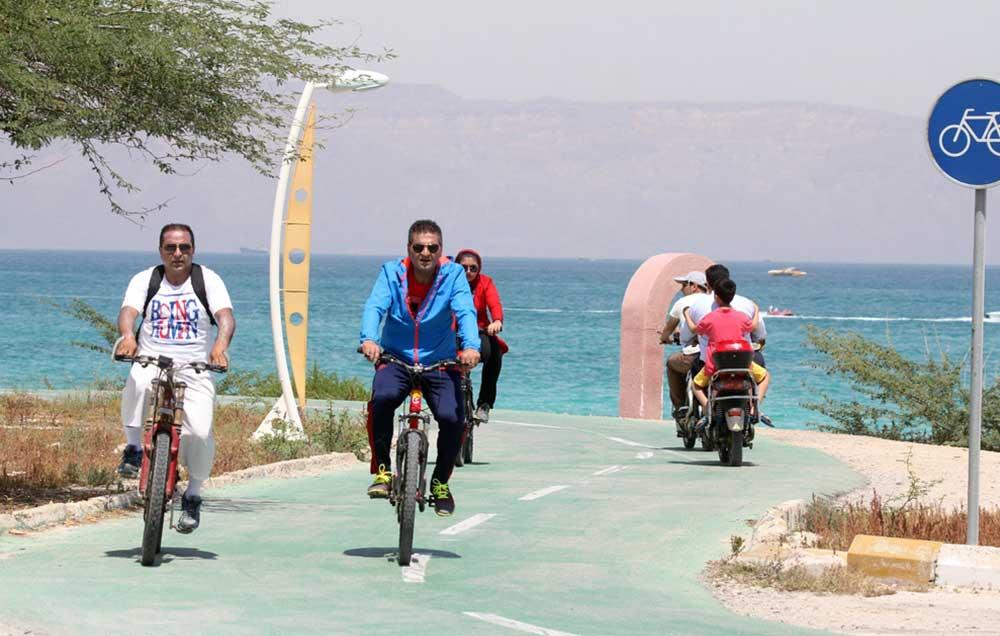 کیش ، طولانی ترین و زیباترین مسیر دوچرخه سواری در خلیج فارس