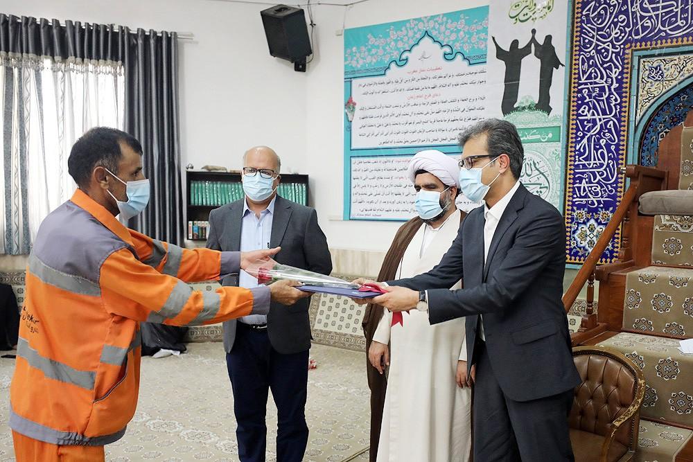 حرکت زیبا و پسندیده شرکت عمران و خدمات کیش در روز عید غدیرخم